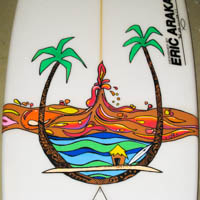 Tiki's & Palm Trees My Surfboard Art EA Element