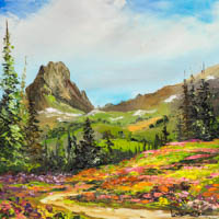 Wildflower Trail to Buck Mountain Alaska Basin Grand Tetons