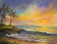 Wailea Sunset Ulua Beach Maui